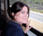 Daysha Eaton on a train
