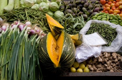 vegetables in Udaipur by dey from flickr